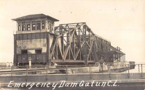 Gatun Canal Locks Panama Emergency Dam Real Photo Antique Postcard K23870