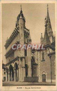 Old Postcard Dijon Eglise Notre Dame