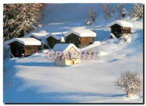 Modern Postcard Weiler Rottebrigge Winterlandschaft im Goms