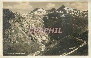 Postcard Old Furkastrasse Rhonegletscher