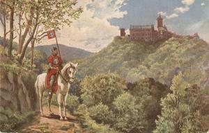 M. Lehnert. Horsseman. Thringer Reiter von der Warbung Antique German postard