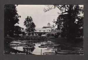 Buitenzorg Paleis Java Island Indonesia Bogor Postcard Real Photo RPPC PC