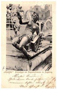 Germany   Schmatter Broncefigur am Augustusbrunnen zu Augsburg