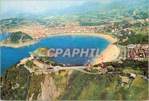 Postcard Modern San Sebastian Espana View Aerienne