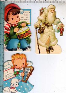 3 - Die-Cut Christmas Cards - 1 Santa