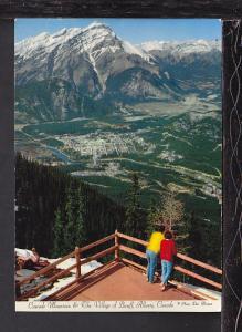 Cascade Mountain,Village Banff,Alberta,Canada Postcard BIN