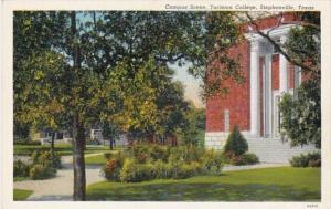 Texas Stephenville Campus Scene Tarleton College Curteich