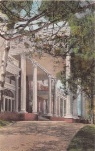 LURAY VIRGINIA MIMSLYN~HOTEL DISTINCTION~ENTRANCE~HANDCOLORED ALBERTYPE POSTCARD