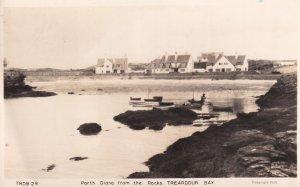 Porth Diana Treardour Bay Welsh Real Photo Old Postcard
