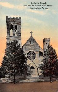 Huntington West Virginia~Catholic Church~5th Avenue & 3rd Street~Tower~1908 PC
