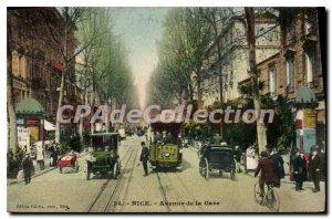 Postcard Old NICE Station Avenue