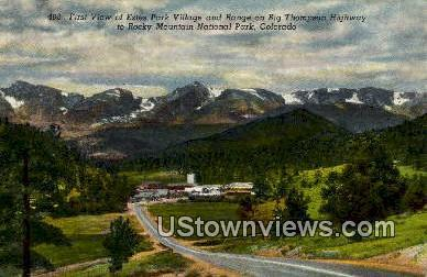 Big Thompson Highway Rocky Mountain National Park CO Unused