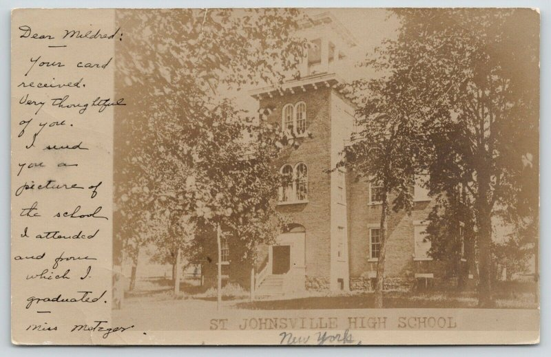 St Johnsville New York~The High School I Attended & Graduated From~1906 RPPC PC