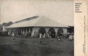 Sierra Leone Vegetable Market Water Street Freetown Postcard