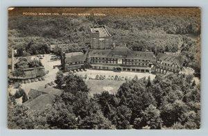 Pocono Manor PA-Pennsylvania, Pocono Manor Inn, Aerial View, Vintage Postcard