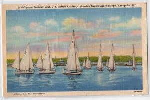 Midshipmen Sailboat Drill, Naval Academy, Annopolis, MD