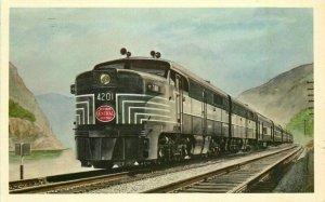 1969 Pittsburgh Lake Erie Railroad Train Teich Postcard 12582