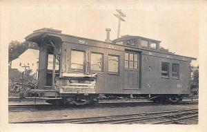 S.R. & S.R. Narrow Gauge Railroad Caboose #551 RPPC Postcard