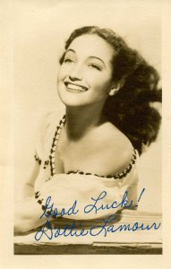 Dottie Lamour - Autographed Photo (not personally signed) RPPC