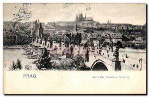 Old Postcard Prag Karisbruke Klenseitu U Fradschin