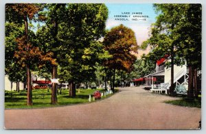 Angola Indiana~Looks Relaxing: Lake James Christian Assembly Grounds~Linen 1940s