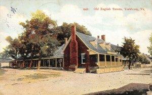 LPS42 Yorktown Virginia Old English Tavern Postcard