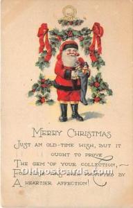 Santa Claus Postcard Old Vintage Christmas Post Card 1923