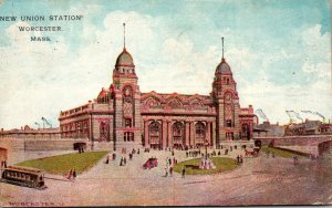 Massachusetts Worcester New Union Station 1911