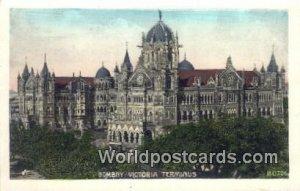 Bombay Victoria Terminus Bombay, India Unused