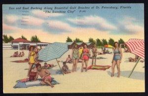 Florida ST. PETERSBURG Sun and Surf along Beautiful Gulf Beaches - pm1954 - L