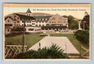 Woodstock VT-Vermont, The Woodstock Inn, South East Side, Vintage c1935 Postcard