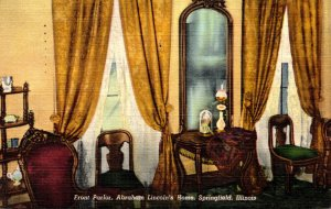 Illinois Springfield Abraham's Lincoln's Home Front Parlor 1950 Cur...