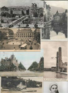 France Paris Annecy Rouen and more Postcard Lot of 41 with RPPC 01.01