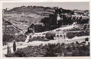 Israel Jerusalem Panorama Of Getsemani Real Photo