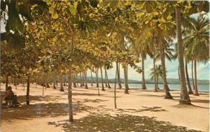 Postcard Luquillo Beach, Puerto Rico 1970's A27