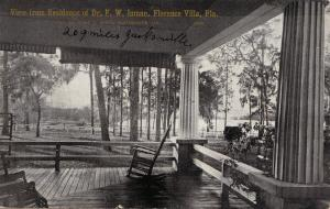 View from the Residence of Dr FW Inman , FLORENCE VILLA , Florida , 00-10s