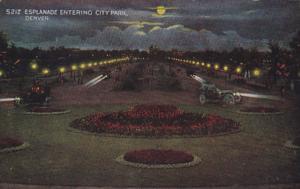 Colorado Denver Esplanade Entering City Park At Night