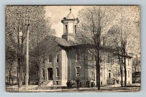 Quincy MI-Michigan, Public School, Vintage Postcard