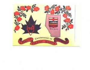 Centennial 1967, Map, Maple Leaf, Red Deer Alberta, Alex Wilson Publications