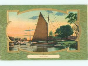 Divided-Back BOAT SCENE Great Nautical Postcard AB0347