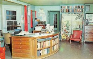 Mansfield Ohio~Office And Library Of Louis Bromfield~1960 Postcard