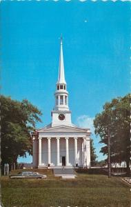 Ellsworth Maine~Congregational Church~1960s Postcard