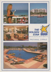 Cyprus Postcard - The Golden Star Beach Hotel Apartments, Protaras RRR16