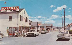 WELLS BEACH , Maine , 50-60s ; Business District , Atlantic Avenue