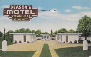 Georgetown SC - Deason's Motel, U.S. 17 on St. James St., 1930/40s
