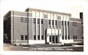 Carroll Iowa~High School Auditorium~1940s RPPC Postcard