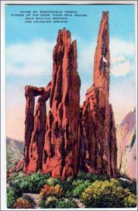 Ruins of Montezumas Temple, Manitou & Colorado Springs