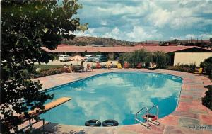 1950s Swimming Pool Coronado Motel Nogales Arizona Petley postcard 9322