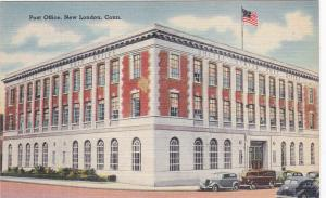 NEW LONDON, Connecticut, 1930-40s; Post Office, Classic Cars