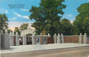 Linen of Broadway Entrance Zoological Park Toledo Ohio OH